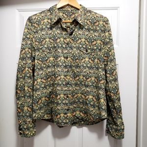 J.Crew vintage print button shirt